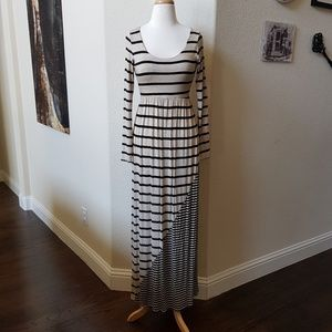 Coveted Clothing Striped Maxi Dress {NWOT}